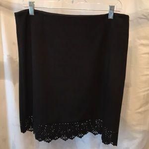 laundry by Shelli Segal black straight skirt